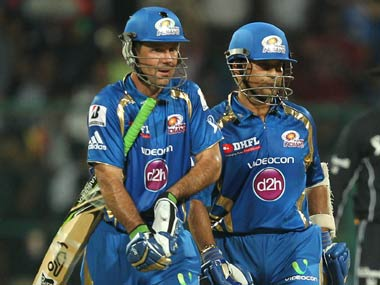 Only in the IPL: Sachin Tendulkar opening the batting with Ricky Ponting. BCCI