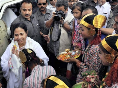 West Bengal Chief Minister Mamata Banerjee in Darjeeling on Monday. PTI