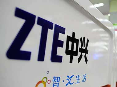 ZTE Logo is seen in this file photo. AP