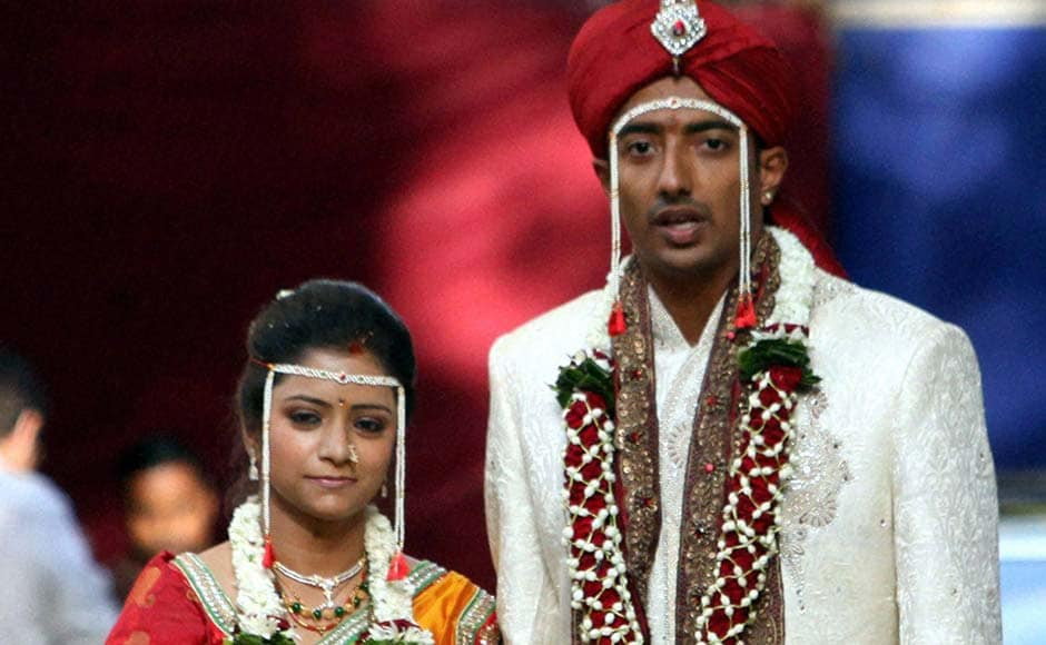 Images: Ankeet Chavan shrugs off IPL controversy for a day to get married