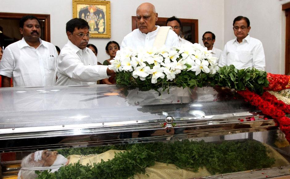 Images: Leaders condole Chidambaram's mother's death