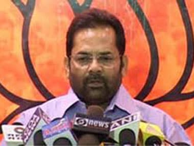 BJP leader Mukhtar Abbas Naqvi. Image courtesy ibnlive