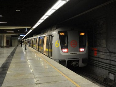 One of the trains on the Delhi metro yellow line: AFP