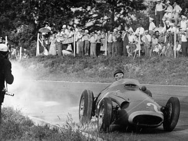 Fangio conquered the Nurburgring but the effort left him completely drained. Getty Images