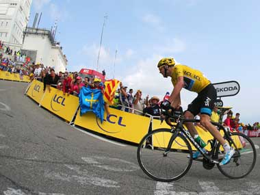 Team Sky's Froome, who showed he is unbeatable on a single climb, now leads Dutchman Bauke Mollema by 4:14 in the overall standings. Getty Images