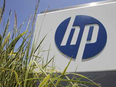 Hewlett Packard logo is seen in this file photo. AP