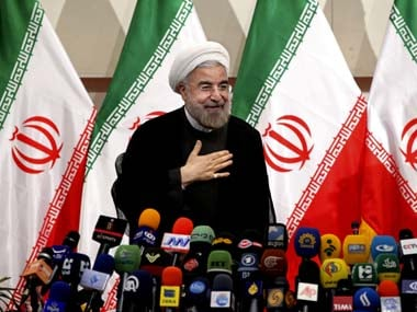 File photo of Iranian President-elect Hasan Rouhani. AP