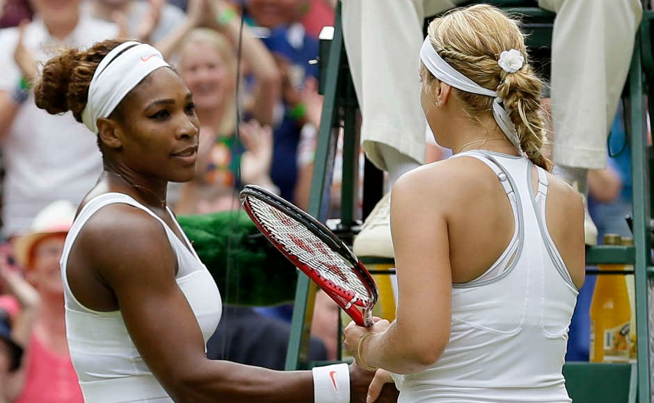 With a mediocre 16-15 win-loss record at the other three Grand Slam tournaments, Lisicki is 17-4 at the All England Club. She reached the semifinals at Wimbledon in 2011, and is into her fourth quarterfinal, coincidentally beating the reigning French Open champion every time: Svetlana Kuznetsova in 2009, Li Na in 2011, Maria Sharapova in 2012, and Williams in 2013. (AP Photo/Alastair Grant)