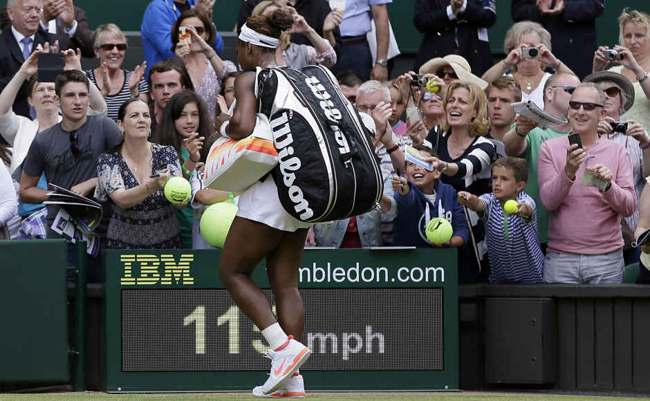 """""""I probably couldn't be more disappointed,"""" Williams said. """"I think I may have backed off of a success. I was playing something successful. I didn't continue that path. The result didn't go the way it could have gone had I continued to play the way I did in the second set."""" (AP Photo/Alastair Grant)"""