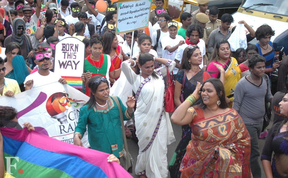 Several activists also took part in the Chennai Rainbow Pride Rally. Firstpost.