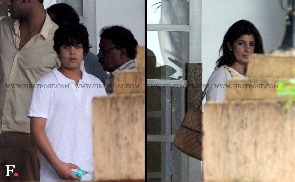 Aarav, the son of Twinkle Khanna and actor Akshay Kumar on the left while Rajesh Khanna's daughter Twinkle is seen on the right. Firstpost