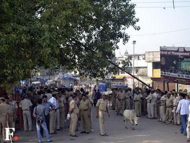 Police deployed in Ayodhya on Sunday. Danish Raza/ Firstpost