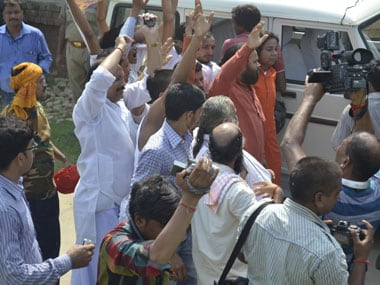 The handful of supporters who turned up for the yatra were held by the police. Danish Raza/Firstpost