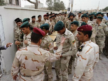 Security personnel in Iraq were targeted. AFP.