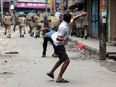 Riots in Jammu and Kashmir. Agencies.