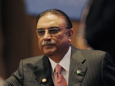 Asif Ali Zardari. Agencies.