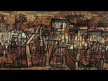 An untitled landscape by India's FN Souza is expected to fetch up to $300,000 at Sotheby's auction. Image courtesy: Sotheby's