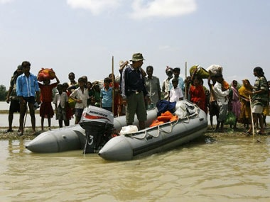 Floods have ravaged parts of Bihar. AFP.