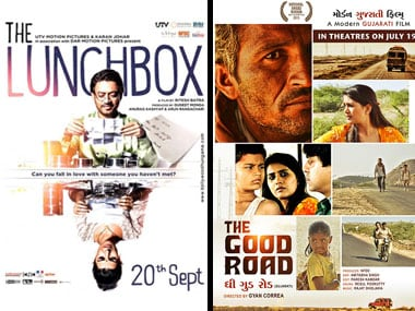 Posters of The Lunchbox and The Good Road.