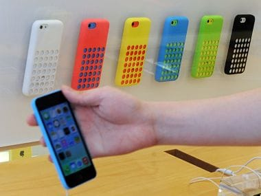 Apple's iPhone 5c is seen in this file photo. AFP.