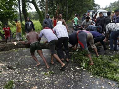The rain and heavy winds have already uprooted trees in Odisha. Reuters