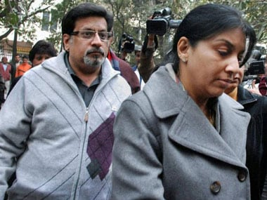 Rajesh and Nupur Talwar in court for the Aarushi-Hemraj trial. PTI.