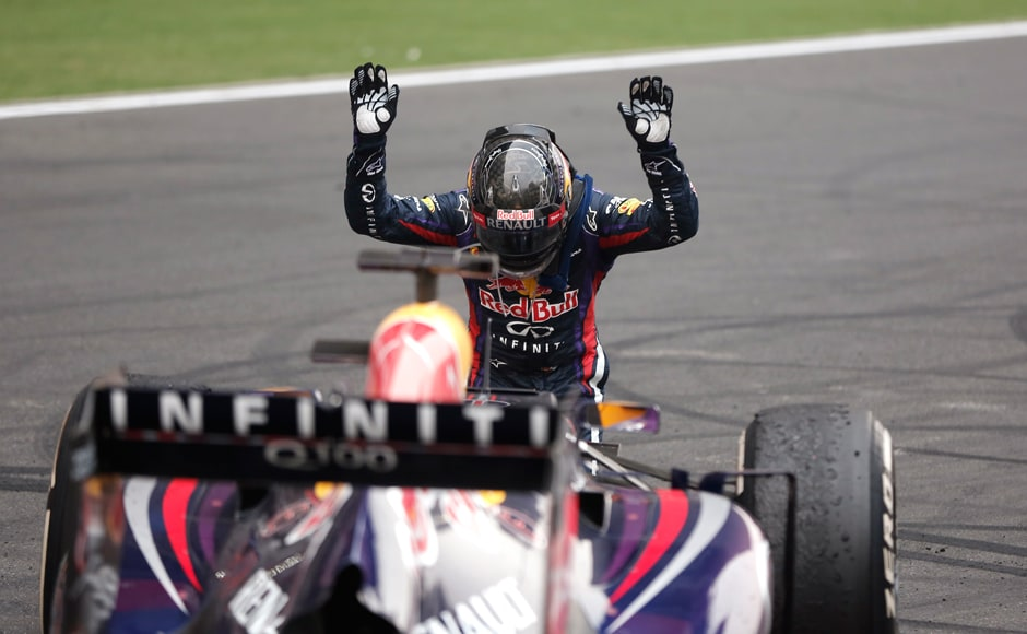 Images: Vettel wins fourth F1 world title at the Indian GP