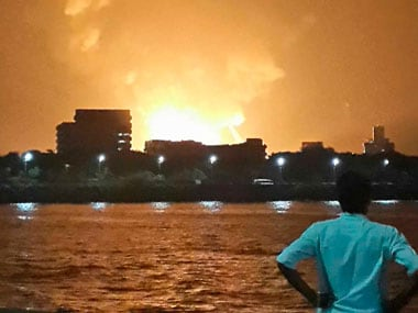 A file photo of the INS Sindhurakshak on fire. Reuters