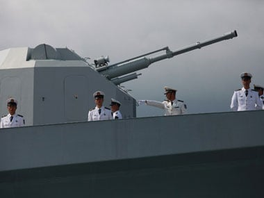 A Chinese naval ship. AFP