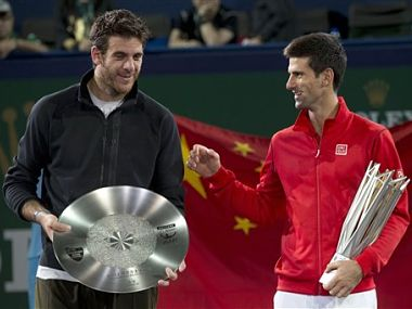 File photo of tennis players Novak Djokovic and Martín del Potro. AP