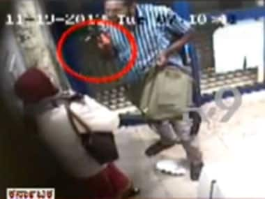 A screen grab of the CCTV footage.