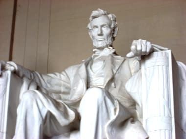 File image of the Abraham Lincoln Memorial.