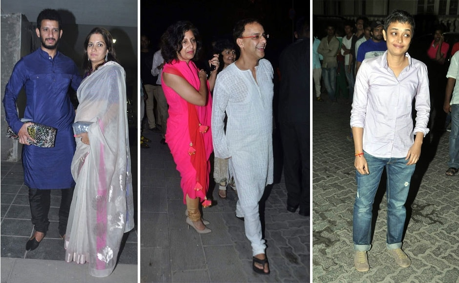 Sharman Joshi with wife Prerana, filmmaker Vidhu Vinod Chopra and Reema Kagti.