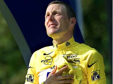 File image of American cyclist Lance Armstrong. AP