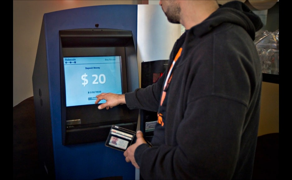 Photos: Check out the world's first ATM that dispenses bitcoins, not money