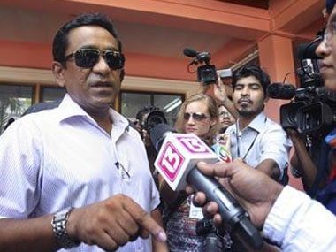 File image of Maldivian president Abdulla Yameen. Reuters