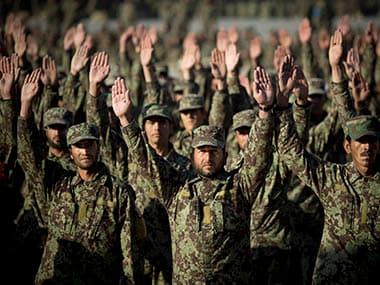 File image of Afghanistan Army soldiers. AP