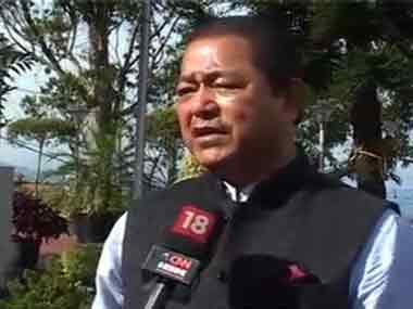 File image of Mizoram Chief Minister Lal Thanhawla. News18