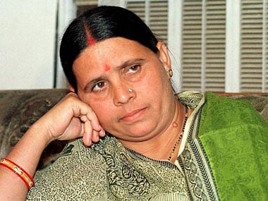File image of Rabri Devi. AFP