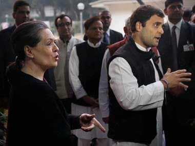 Rahul and Sonia Gandhi attempt to explain their losses. PTI