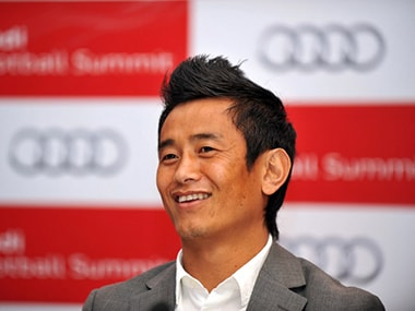 Former India football captain and TMC Candidate Bhaichung Bhutia. AFP