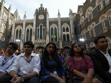 File photo St Xavier's students with the college building in the background. Reuters