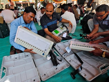 File image of electronic voting machines. Reuters