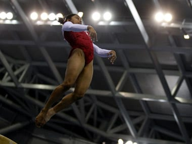 File photo of Dipa Karmakar in action. Reuters
