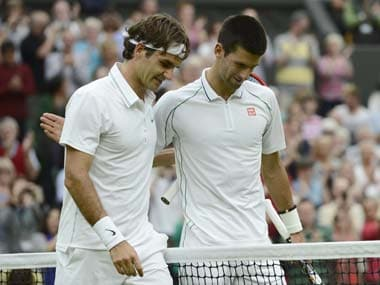 Roger Federer and Novak Djokovic meet in the Wimbledon final for the first time. Reuters