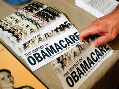File photo of an Obamacare pamphlet. Reuters