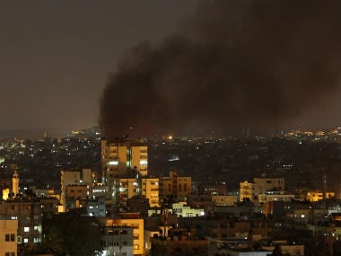 File photo of rockets being fired in Gaza. AP