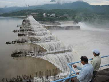 File image of  Sardar Sarovar Dam on Narmada river. AFP