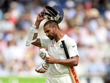 Shikhar Dhawan's place in the playing XI is under immense pressure. Reuters