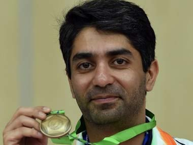 Abhinav Bindra with one of his two his bronze medals. AFP